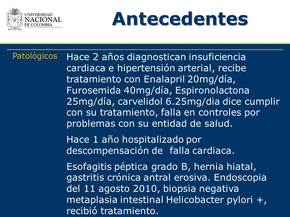 Antecedentes Patológicos.