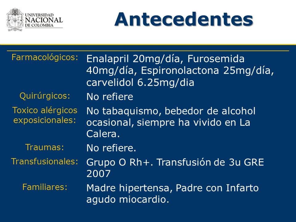 Toxico alérgicos exposicionales: