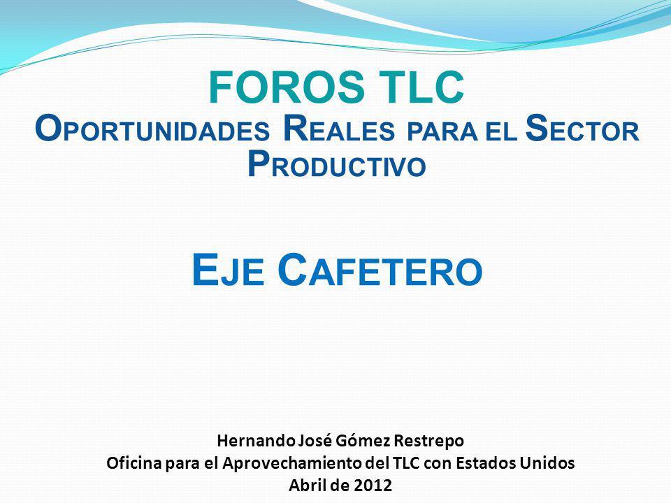 Foros TLC Eje cafetero oportunidades reales para el sector productivo