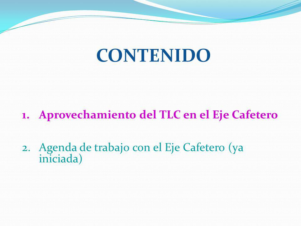 Contenido Aprovechamiento del TLC en el Eje Cafetero