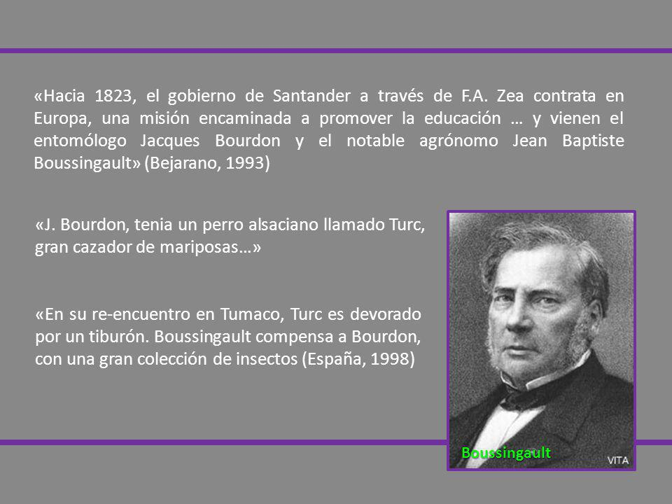 «Hacia 1823, el gobierno de Santander a través de F. A