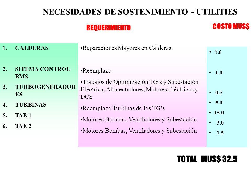 NECESIDADES DE SOSTENIMIENTO - UTILITIES