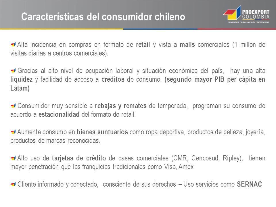Características del consumidor chileno
