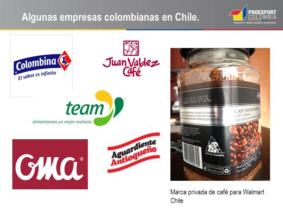 Algunas empresas colombianas en Chile.