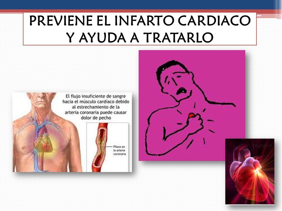 PREVIENE EL INFARTO CARDIACO Y AYUDA A TRATARLO