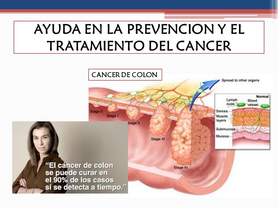 AYUDA EN LA PREVENCION Y EL TRATAMIENTO DEL CANCER