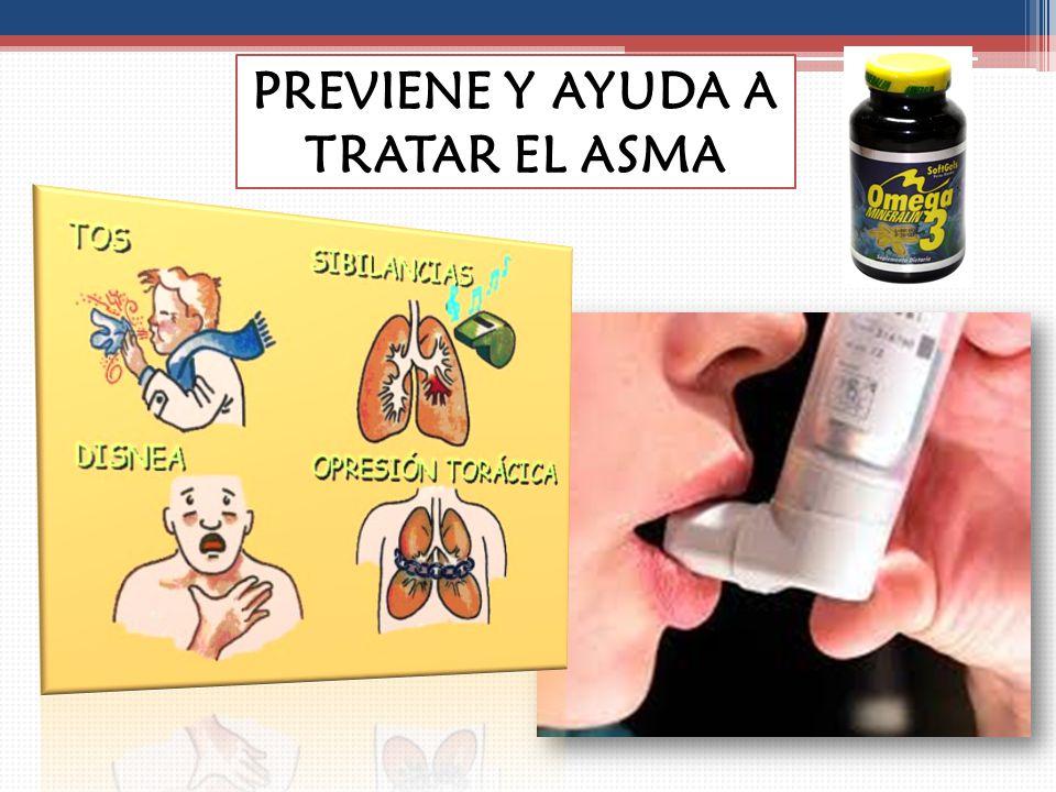 PREVIENE Y AYUDA A TRATAR EL ASMA