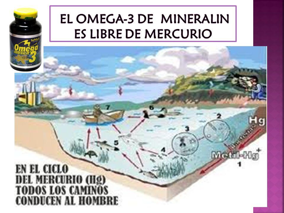 EL OMEGA-3 DE MINERALIN ES LIBRE DE MERCURIO