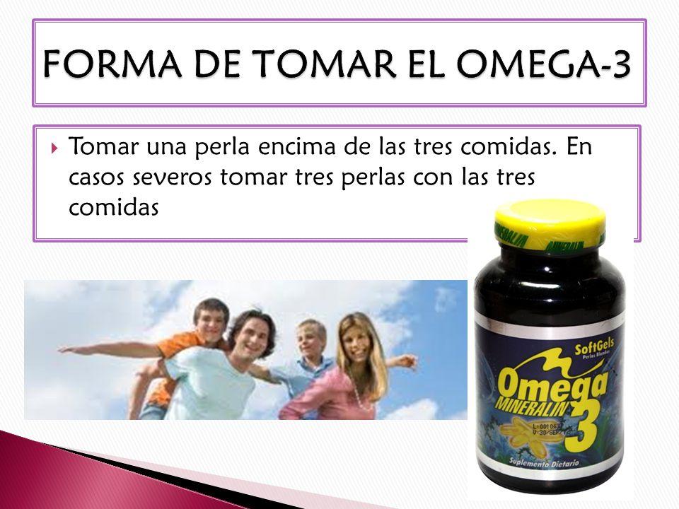 FORMA DE TOMAR EL OMEGA-3