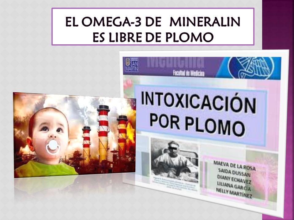 EL OMEGA-3 DE MINERALIN ES LIBRE DE PLOMO