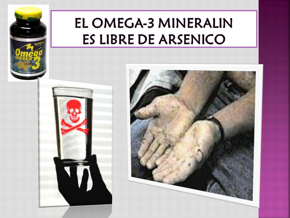 EL OMEGA-3 MINERALIN ES LIBRE DE ARSENICO