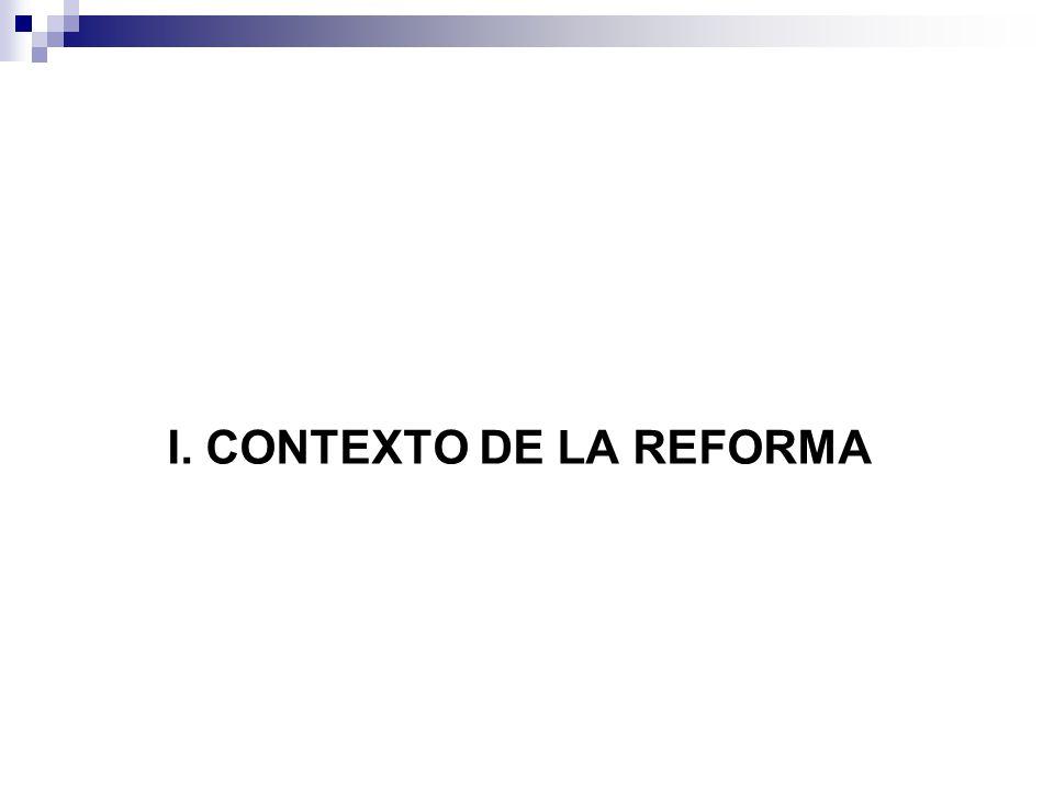 I. CONTEXTO DE LA REFORMA