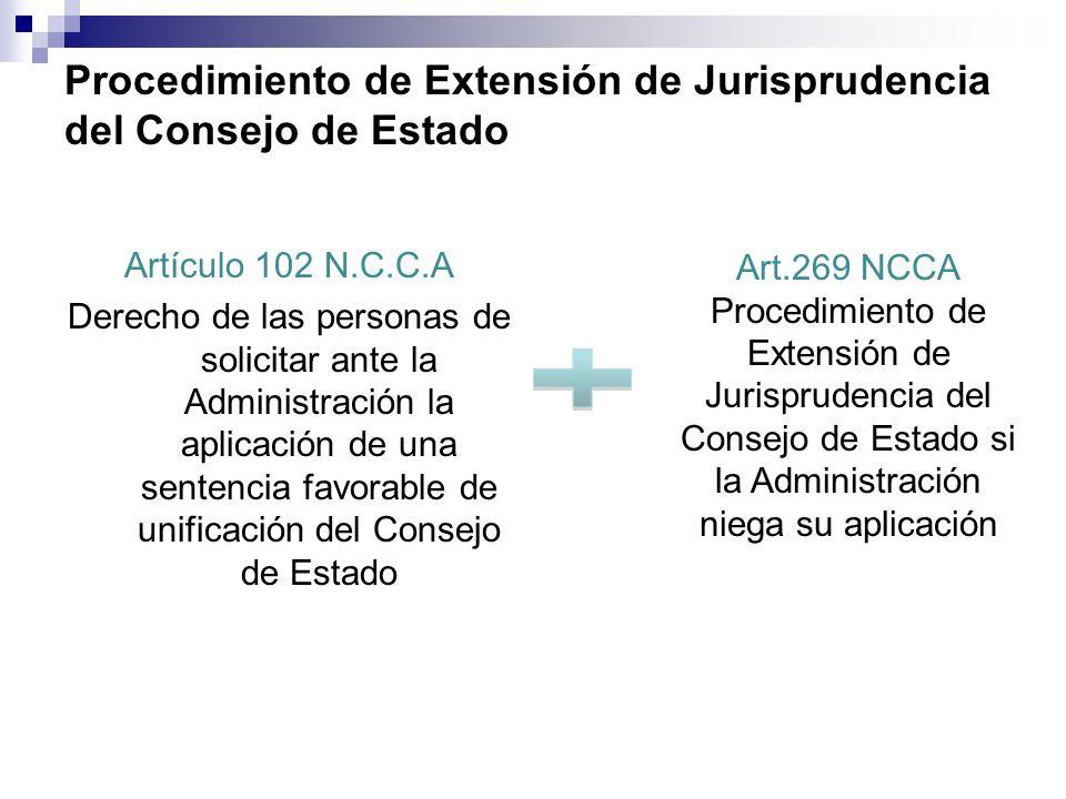 Procedimiento de Extensión de Jurisprudencia del Consejo de Estado
