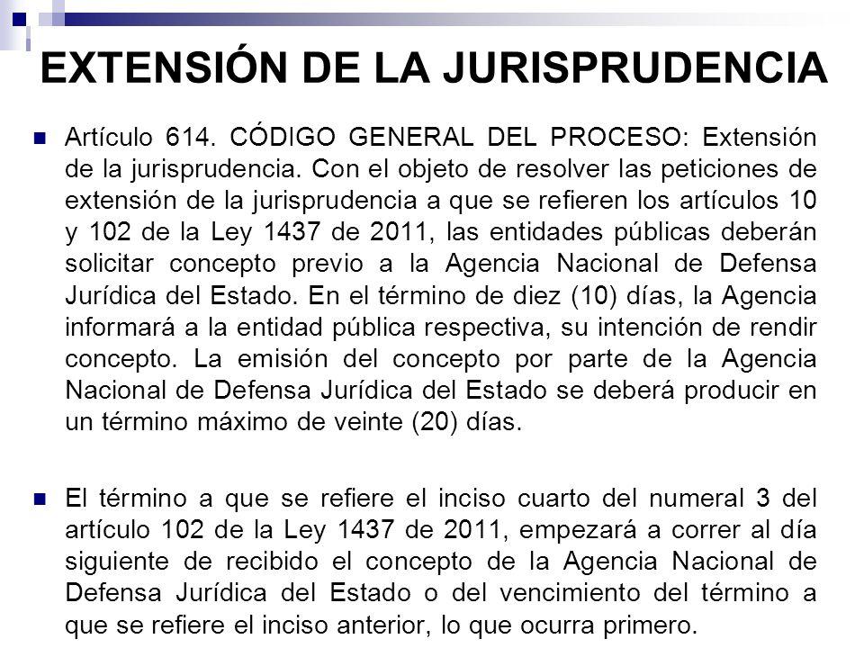 EXTENSIÓN DE LA JURISPRUDENCIA