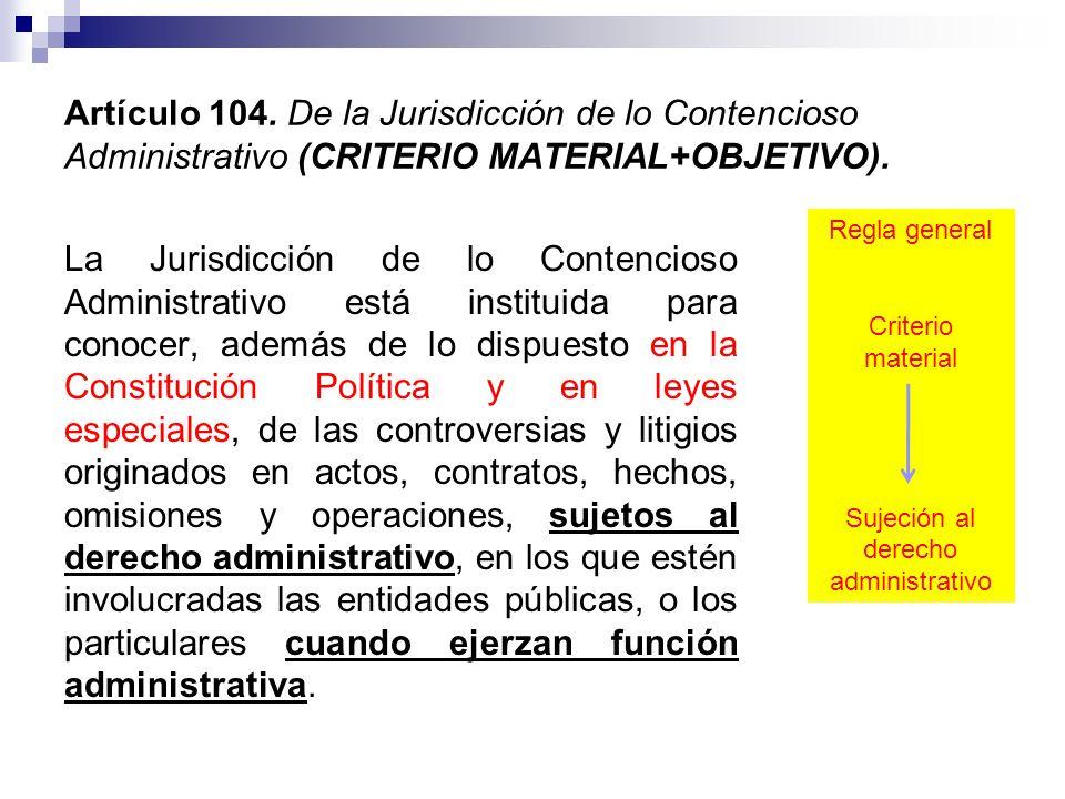 Sujeción al derecho administrativo
