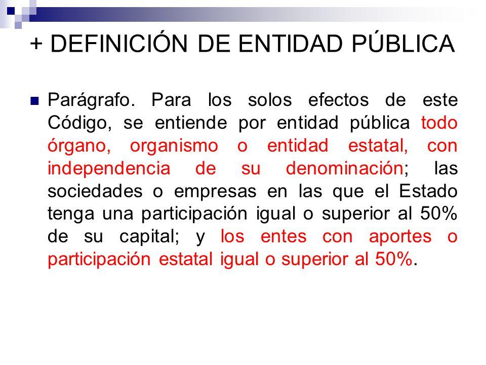 + DEFINICIÓN DE ENTIDAD PÚBLICA