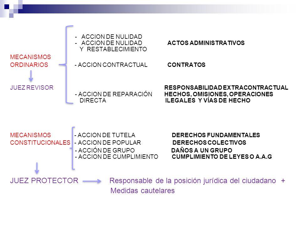 JUEZ PROTECTOR Responsable de la posición jurídica del ciudadano +