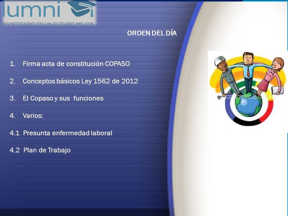 1. Firma acta de constitución COPASO