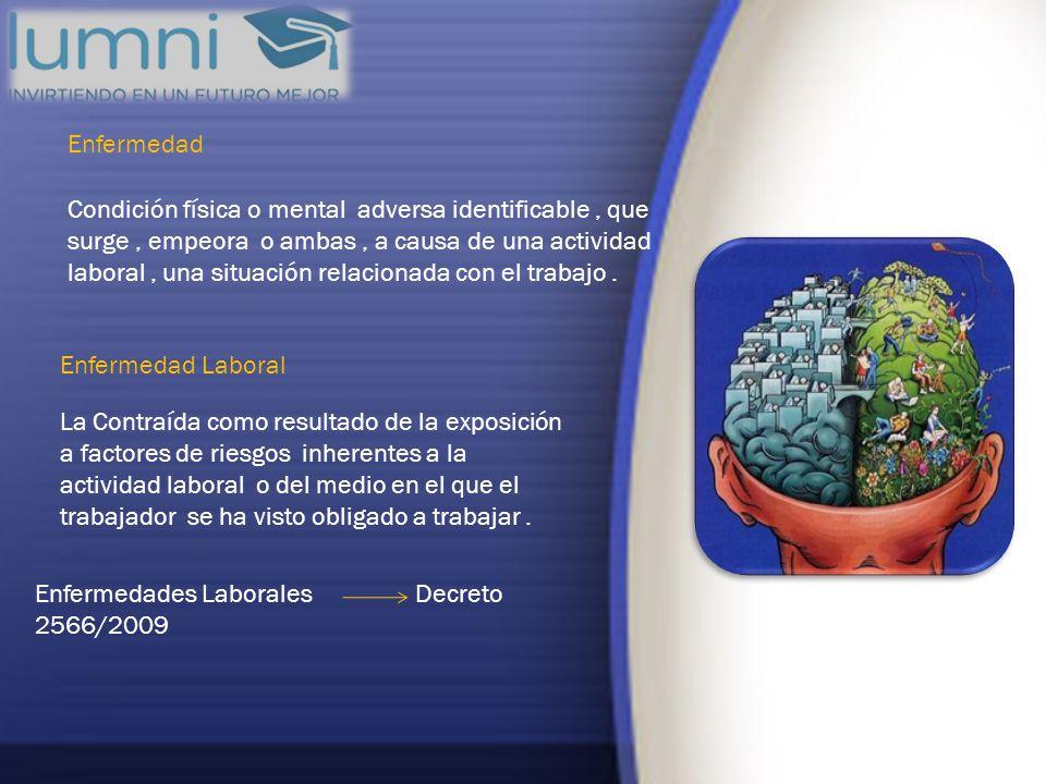 Enfermedades Laborales Decreto 2566/2009