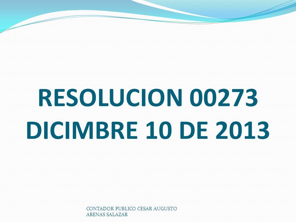 RESOLUCION 00273 DICIMBRE 10 DE 2013