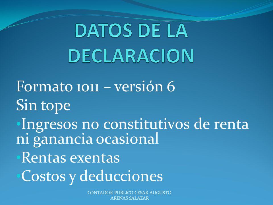 DATOS DE LA DECLARACION