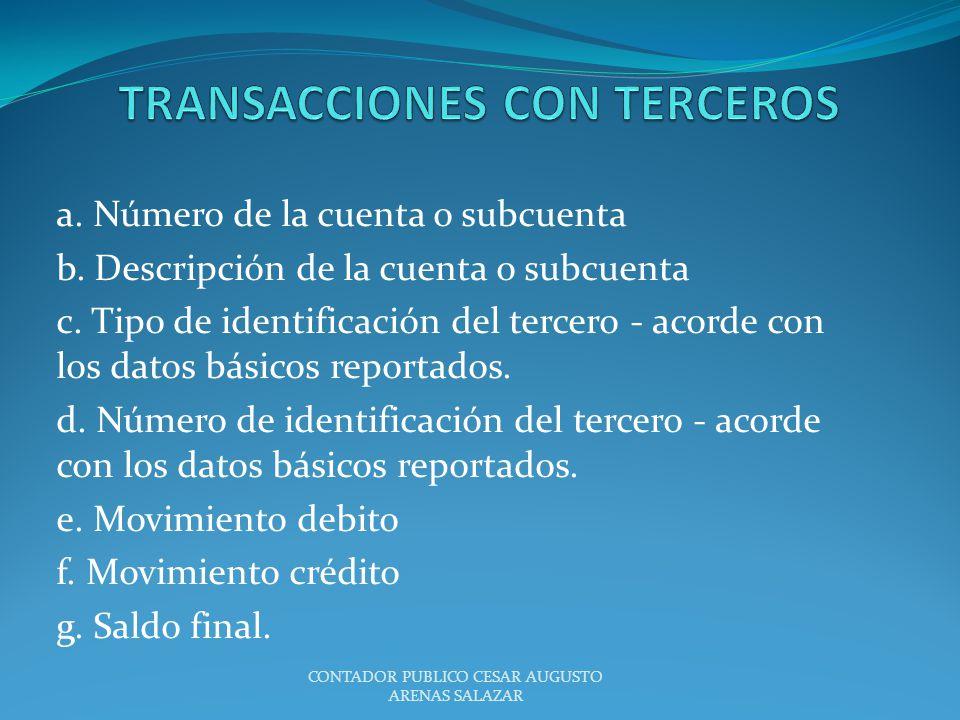 TRANSACCIONES CON TERCEROS