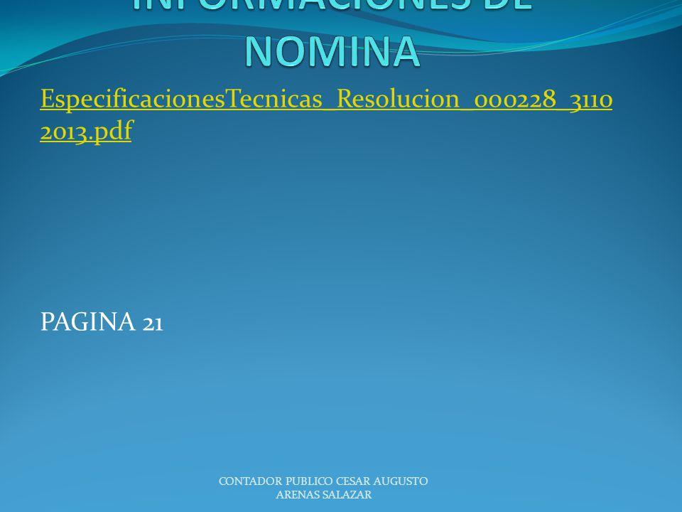 INFORMACIONES DE NOMINA
