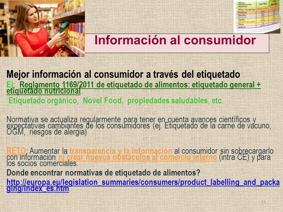 Información al consumidor