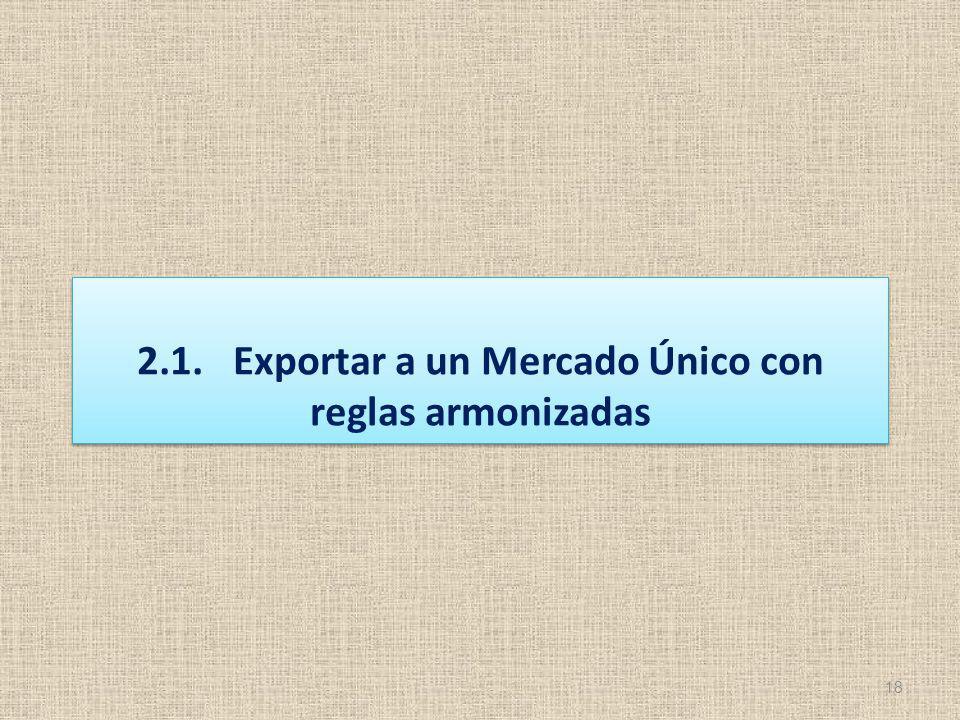 2.1. Exportar a un Mercado Único con reglas armonizadas