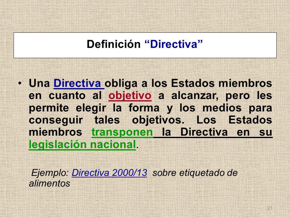 Definición Directiva