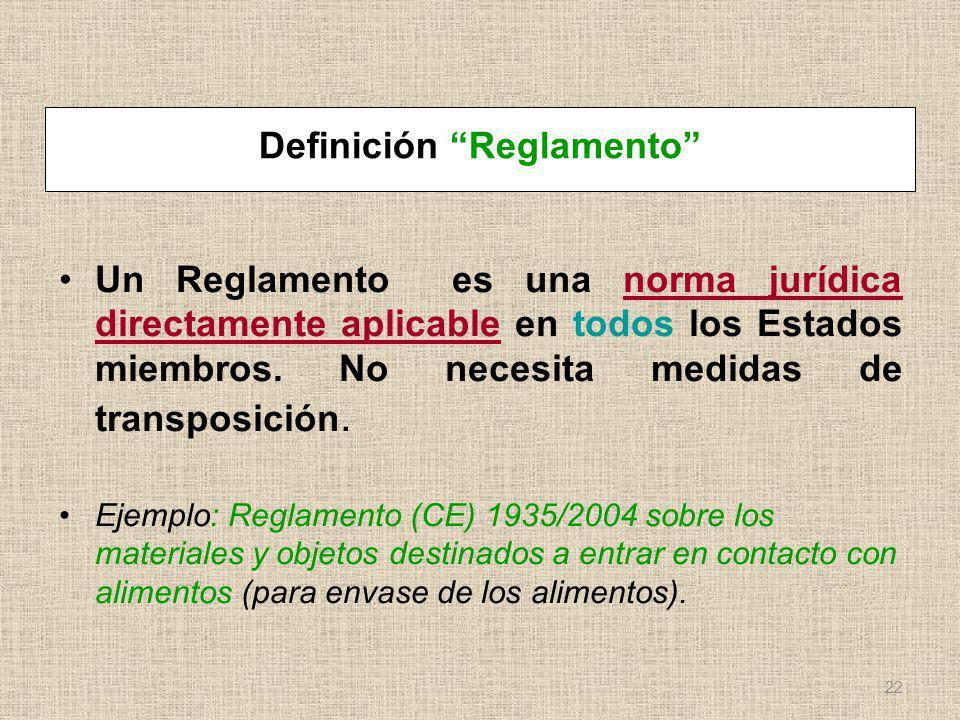 Definición Reglamento