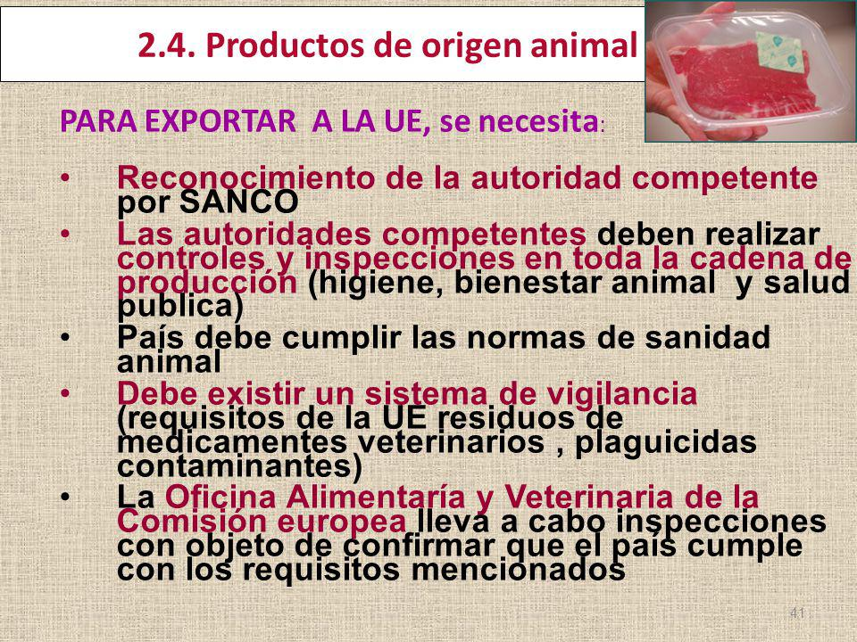 2.4. Productos de origen animal