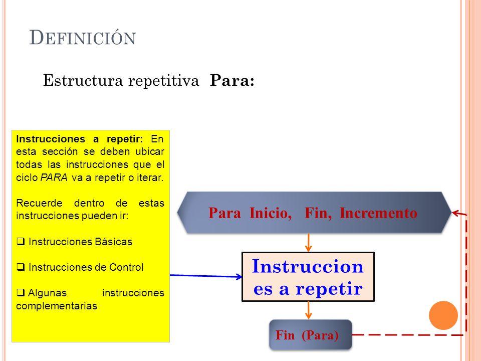 Instrucciones a repetir