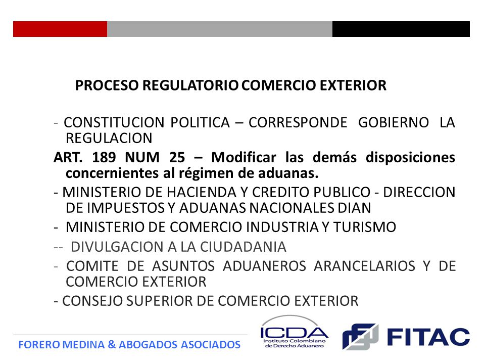 PROCESO REGULATORIO COMERCIO EXTERIOR