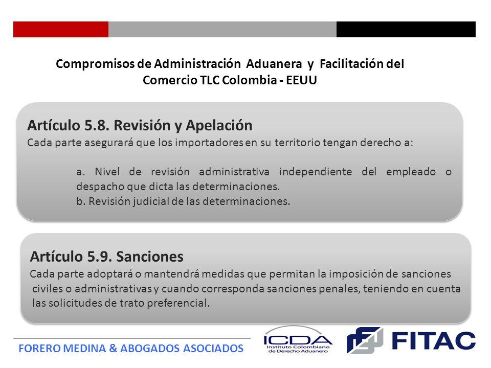 Artículo 5.8. Revisión y Apelación