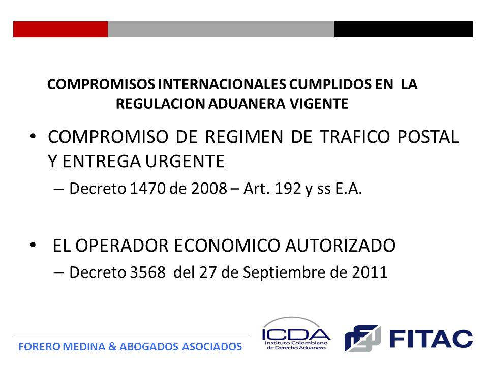 COMPROMISO DE REGIMEN DE TRAFICO POSTAL Y ENTREGA URGENTE