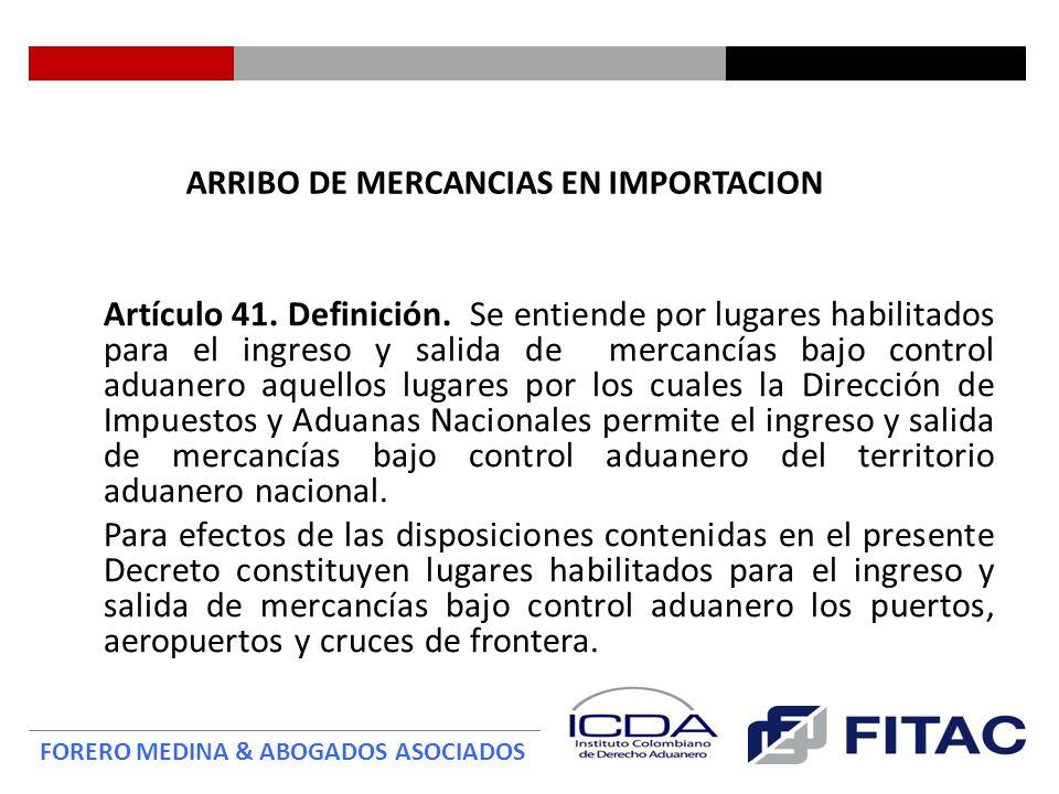 ARRIBO DE MERCANCIAS EN IMPORTACION