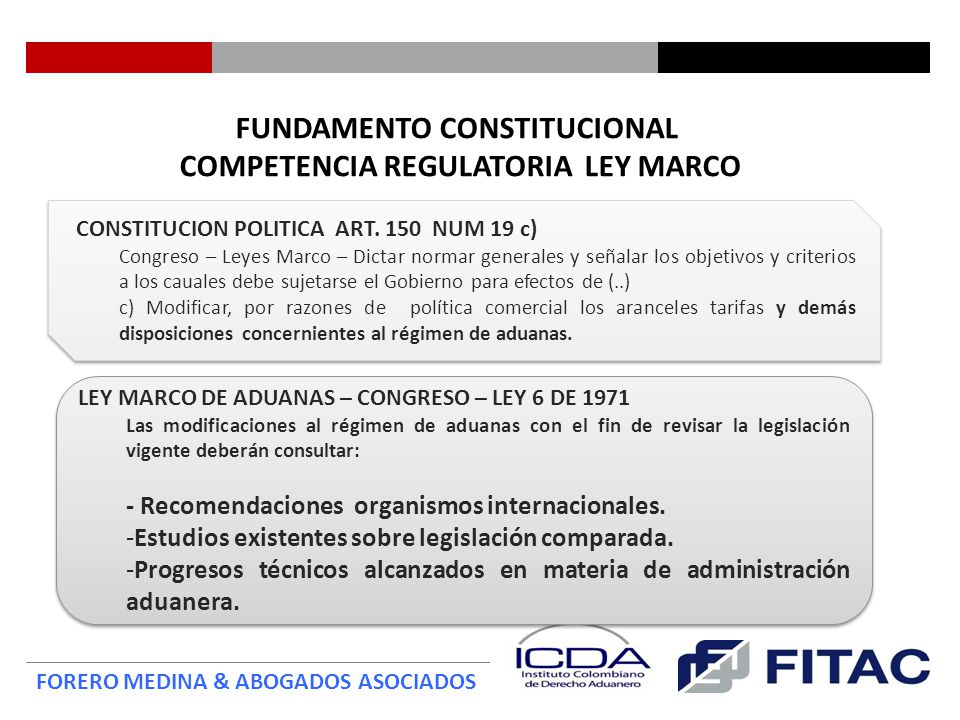 FUNDAMENTO CONSTITUCIONAL COMPETENCIA REGULATORIA LEY MARCO