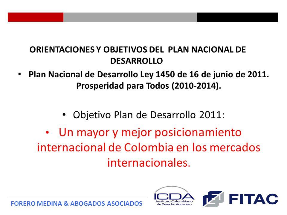 ORIENTACIONES Y OBJETIVOS DEL PLAN NACIONAL DE DESARROLLO