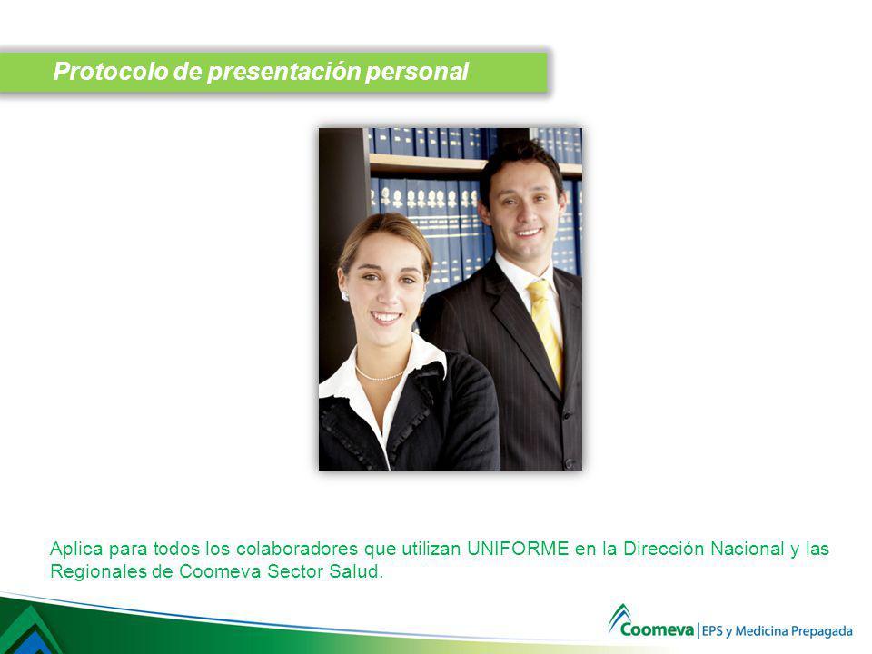 Protocolo de presentación personal