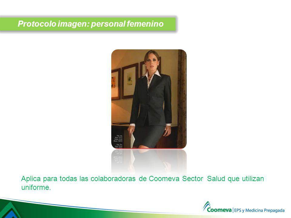 Protocolo imagen: personal femenino