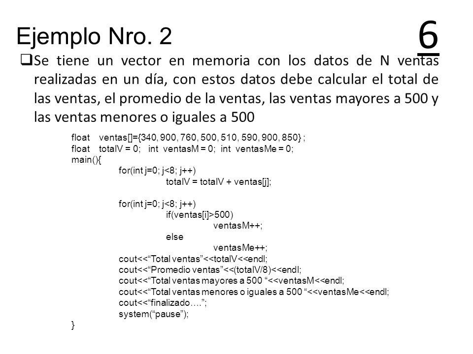 6 Ejemplo Nro. 2.