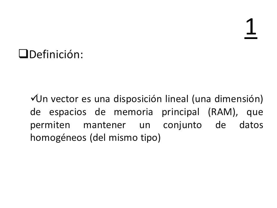 1Definición: