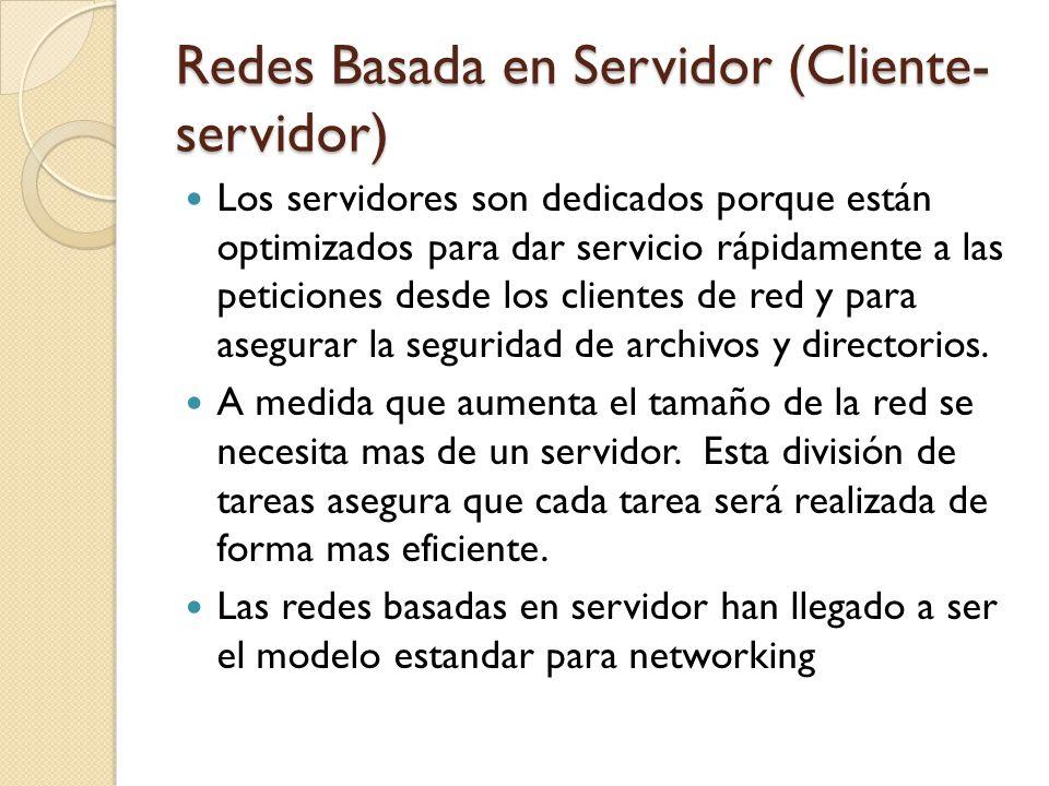 Redes Basada en Servidor (Cliente-servidor)