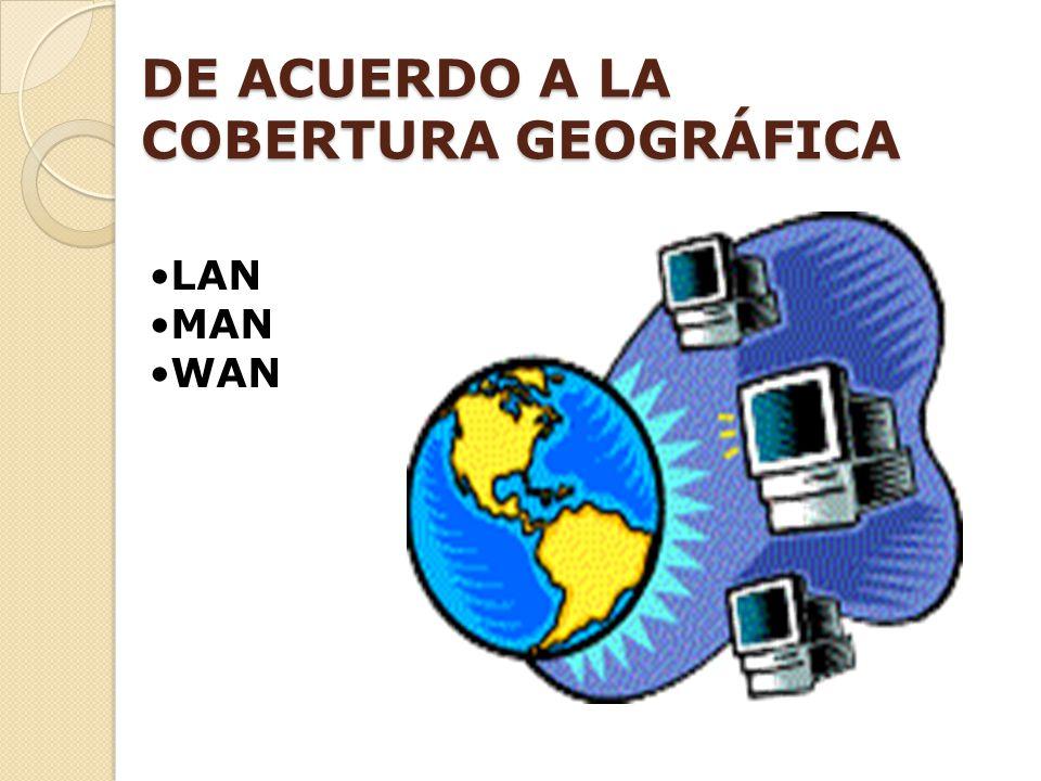 DE ACUERDO A LA COBERTURA GEOGRÁFICA