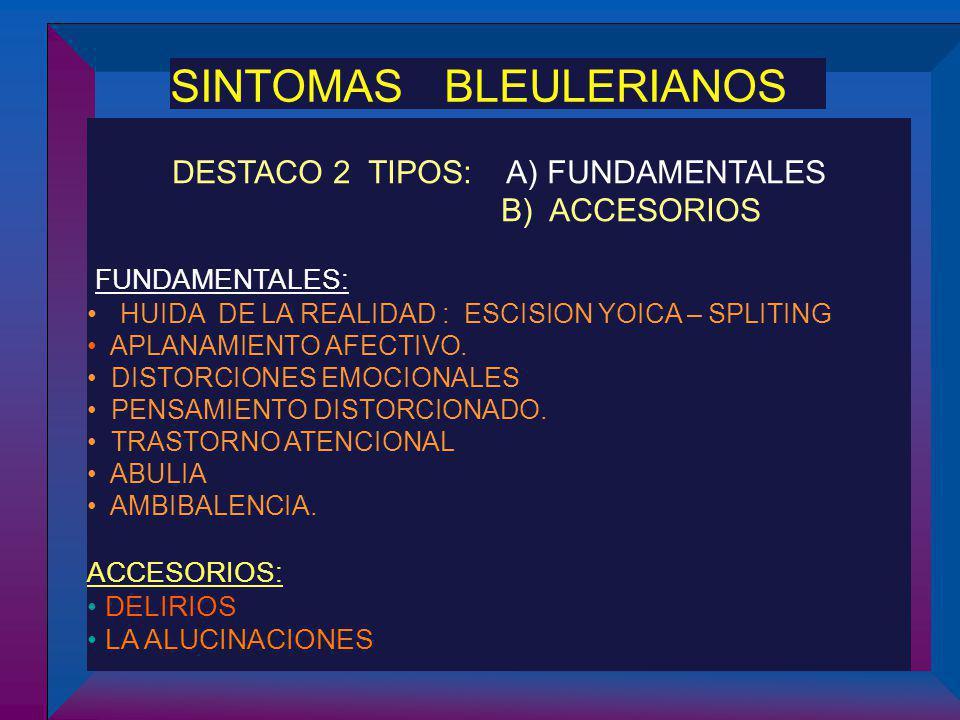 DESTACO 2 TIPOS: A) FUNDAMENTALES