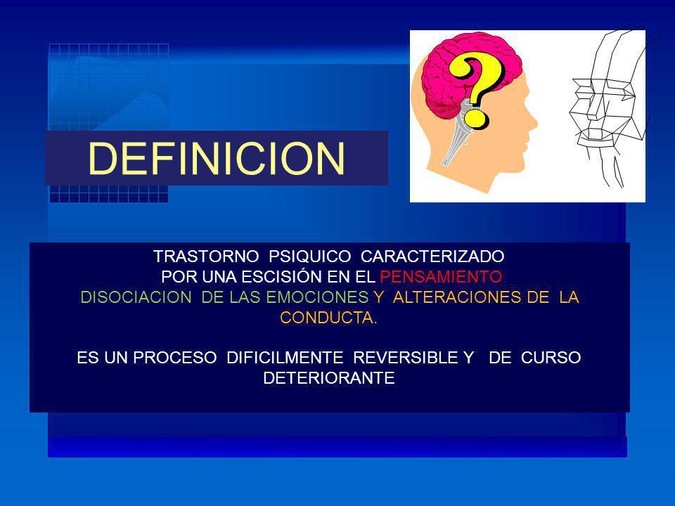 DEFINICION TRASTORNO PSIQUICO CARACTERIZADO