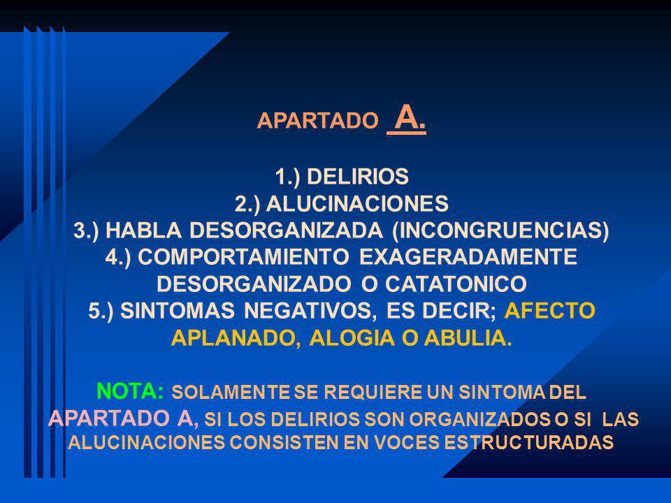 3.) HABLA DESORGANIZADA (INCONGRUENCIAS)