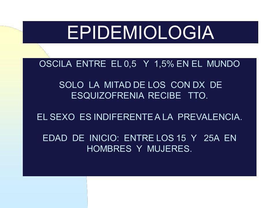EPIDEMIOLOGIA OSCILA ENTRE EL 0,5 Y 1,5% EN EL MUNDO