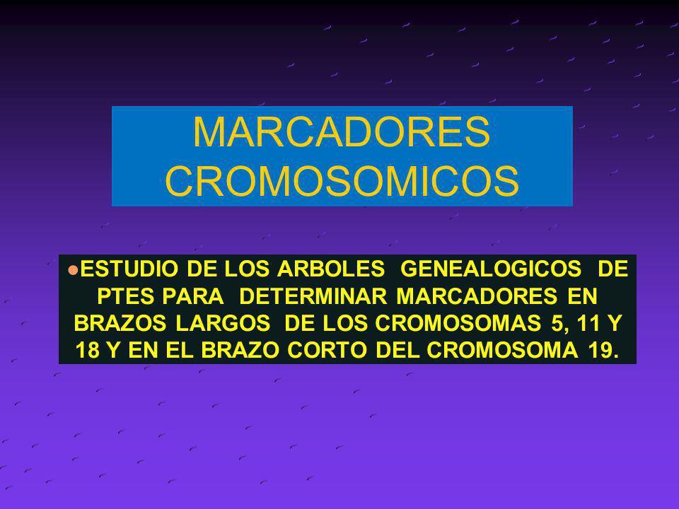 MARCADORES CROMOSOMICOS